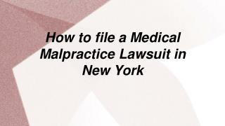 How to claim a Medical Malpractice Lawsuit