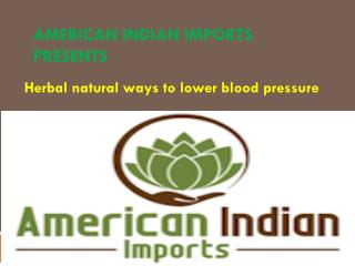 Natural Treatment for Lower Blood Pressure