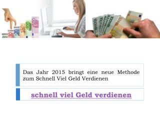schnell viel Geld verdienen - Täglicher Verdienst von 110€ - 1300€!