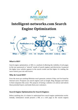 Intelligent-networks.com Search Engine Optimization