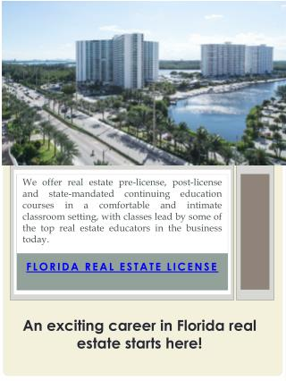 Florida Real Estate Broker License