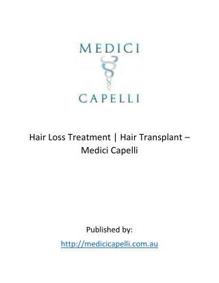 Medici Capelli - Hair Loss Treatment | Hair Transplant