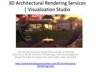 3D Architectural Rendering Services | Visualization Studio
