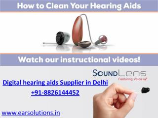 Get affordable hearing aids in Delhi Call EAR Solutions