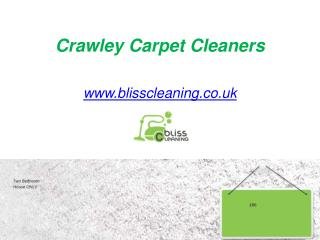 Crawley Carpet Cleaners - www.blisscleaning.co.uk