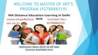 Best Master of Art's (MA) Courses from Correspondance (9278888319)