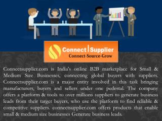 Connect supplier | B2B marketplace