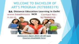 Best BA course Through Distance Learning (9278888319)