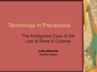 Technology in Precalculus