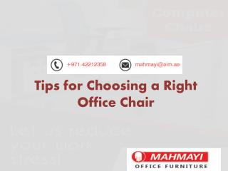 Choose Right Office Chairs in UAE