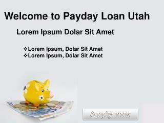 Payday Loan Utah