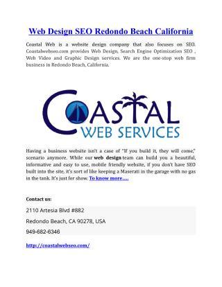 Web Design SEO Redondo Beach California
