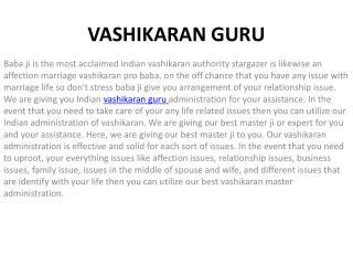 Vashikaran Guru Gives All Problem Solution