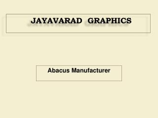 Abacus Manufacturer