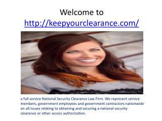 security clearance lawyer