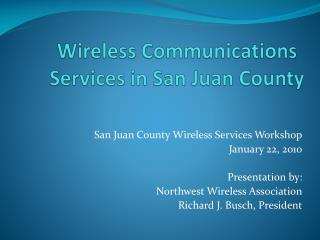 Wireless Communications Services in San Juan County
