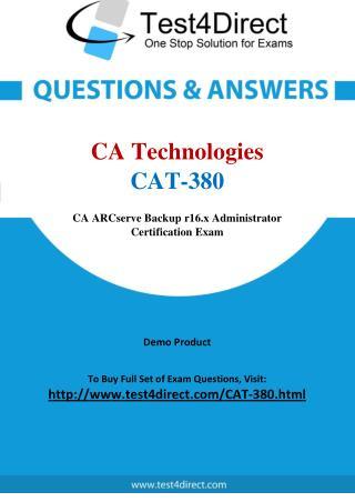 CA Technologies CAT-380 Exam Questions