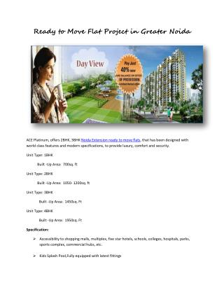 Flats in noida extension ready to move