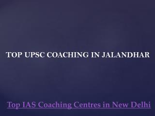 Top upsc coaching in jalandhar