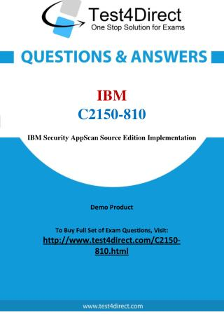 IBM C2150-810 Exam Questions
