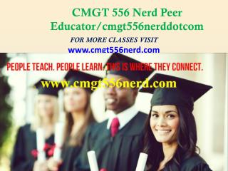 CMGT 556 Nerd Peer Educator/cmgt556nerddotcom