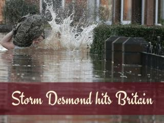 Storm Desmond hits Britain