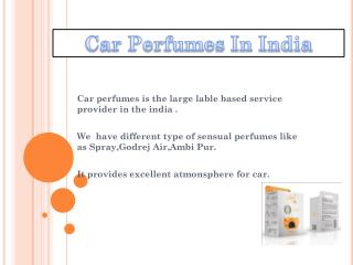 car perfumes in india