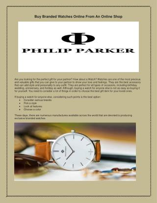 classic collection of watches - Parker Watches