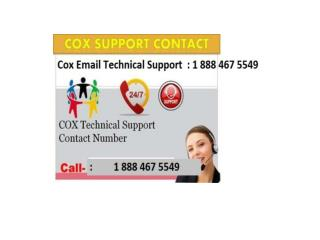 cox email tech1 888 467 5549 support phone number