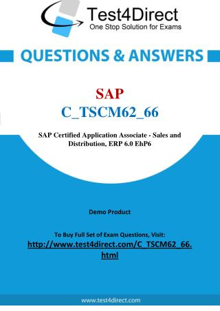 SAP C_TSCM62_66 Exam - Updated Questions