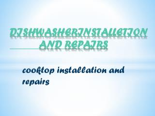 dishwasher installation and repairs