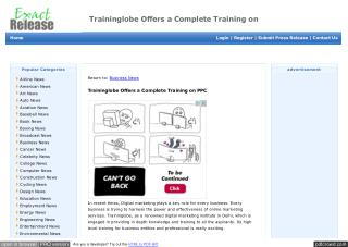 Traininglobe Offers a Complete Training on PPC
