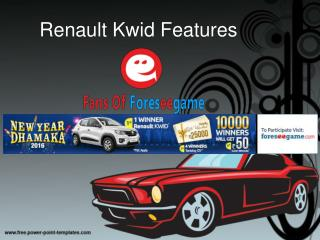Win a Renault Kwid with New Year Dhamaka At Foreseegame