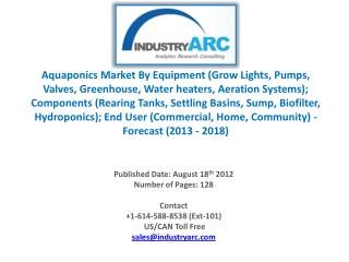 Aquaponics market is having a very potential market.