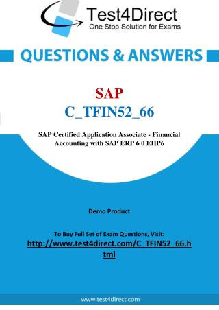 SAP C TFIN52-66 Exam - Updated Questions