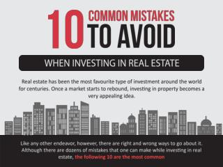 10 Common Mistakes To Avoid When Investing In Real Estate – KW Memorial