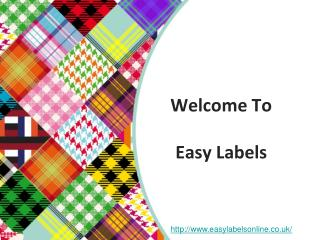 Easy labels - Personalized fabric labels