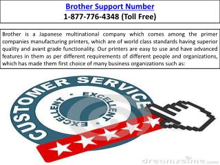 Brother Support Number  |||| 1-877-776-4348