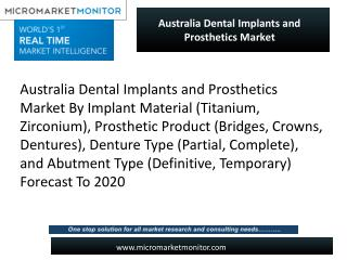 Dental Implants and Prosthetics in Australia: A Growing Opportunity