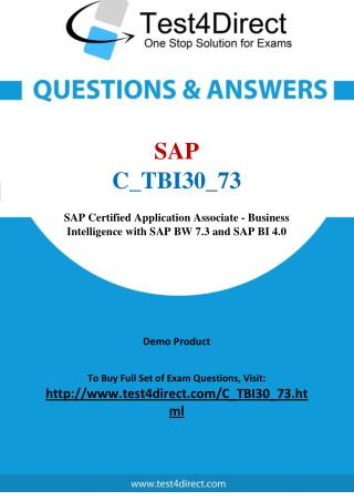 SAP C_TBI30_73 Business Intelligence Real Exam Questions