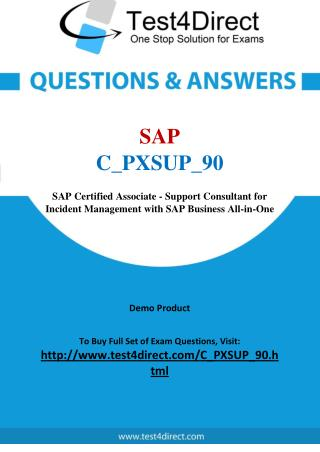 SAP C_PXSUP_90 Test - Updated Demo