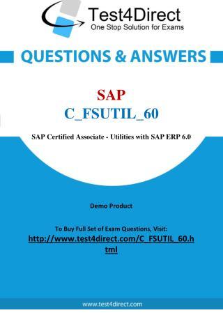 SAP C_FSUTIL_60 Test Questions