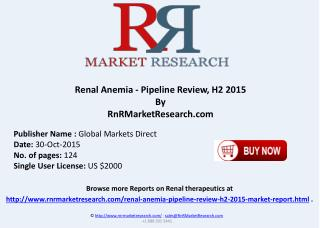 Renal Anemia Pipeline Review H2 2015