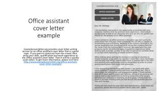 Office assistant cover letter example