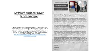 PPT - Software engineer cover letter example PowerPoint ...