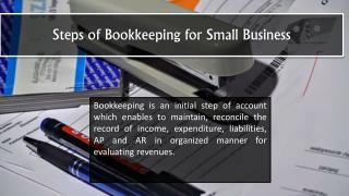 Steps of Bookkeeping for Small Business