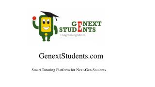 Home Tutuion at Genextstudents