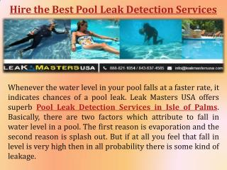 Pool Leak Detection and Repair