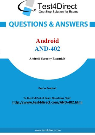 Android AND-402 Exam - Updated Questions