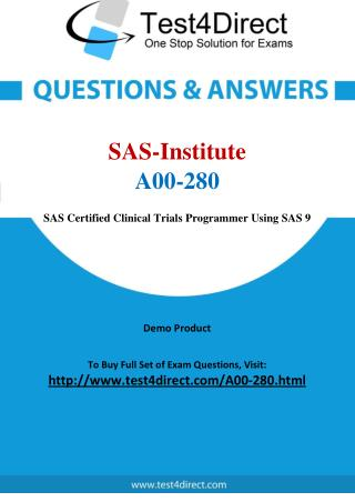 A00-280 SAS Institute Exam - Updated Questions